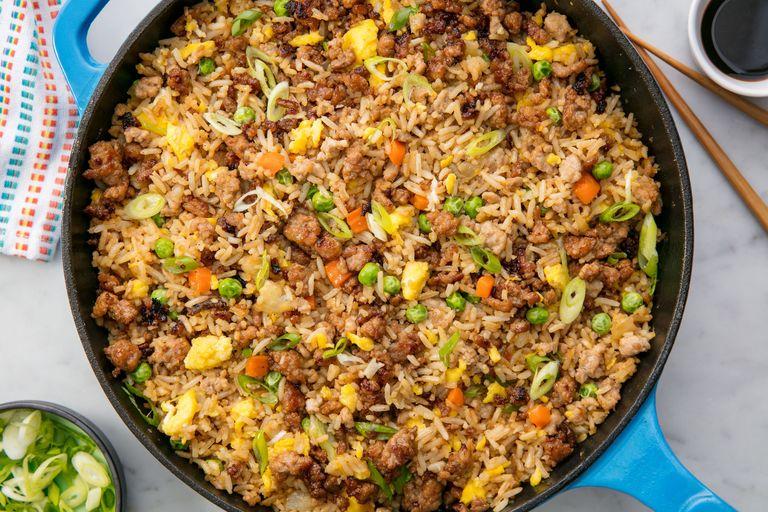 Easy pork fried rice recipe how to make pork fried rice pork fried rice ccuart Image collections