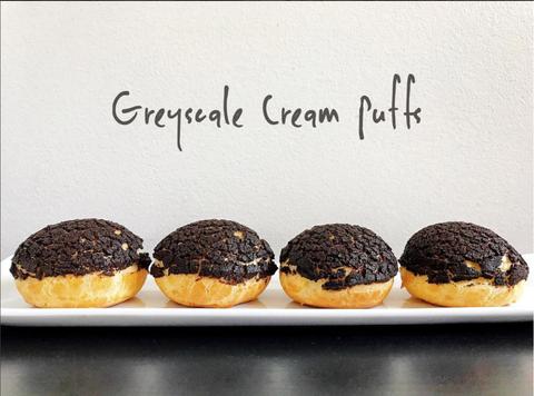 Greyscale Cream puffs