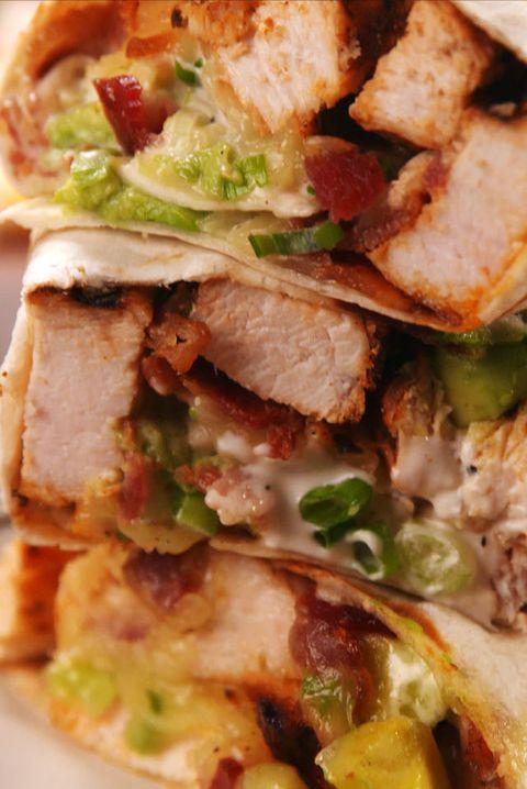 Chicken Bacon Ranch Burritos
