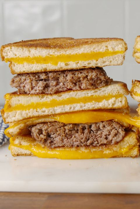 Grilled Cheese Burger Vertical