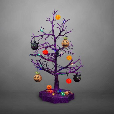 Christmas tree, Tree, Branch, Purple, Christmas decoration, Woody plant, Plant, Twig, Interior design, Houseplant,