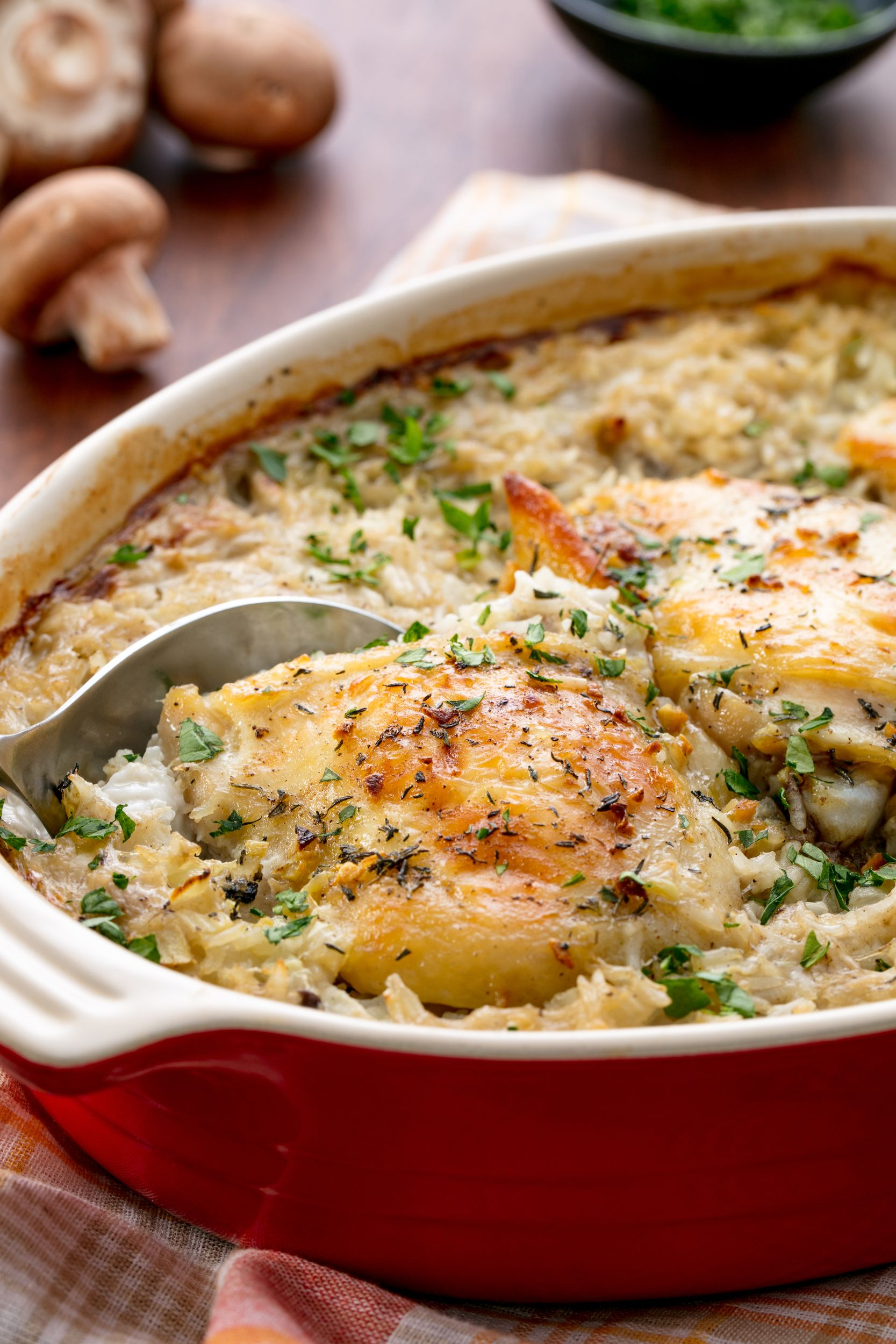 Chicken and Rice Casserole Vertical