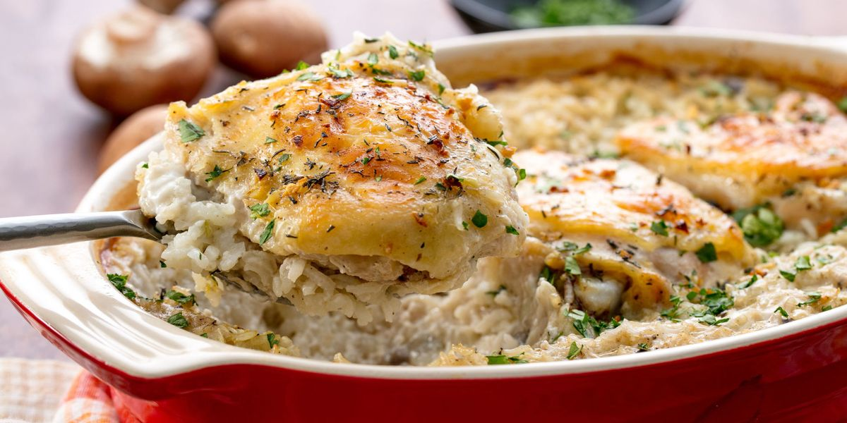 Easy Chicken And Rice Casserole Recipe How To Make Baked