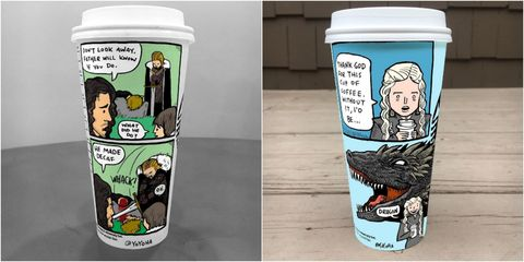 Game of Thrones coffee cups