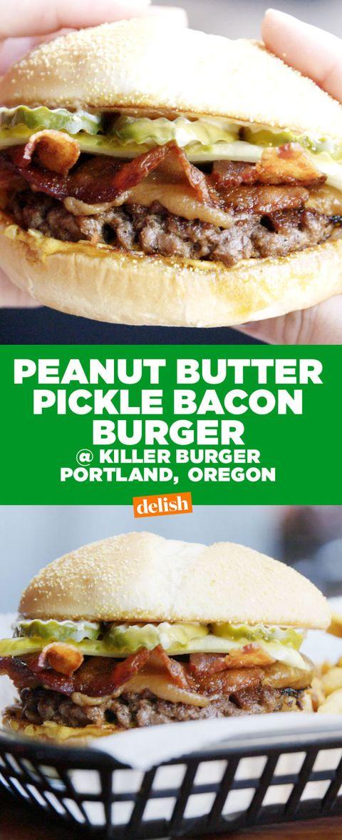 Peanut Butter Bacon Burger Peanut Butter On A Burger
