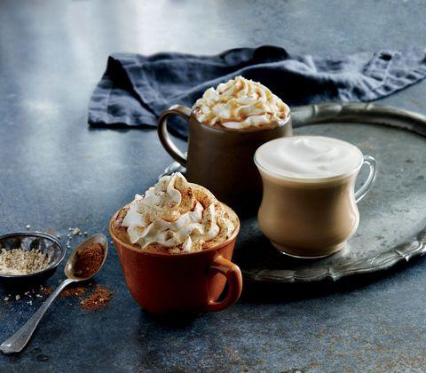 Food, Dish, Cuisine, Ingredient, Dessert, Cream, Dulce de leche, Whipped cream, Hot chocolate, Caramel,