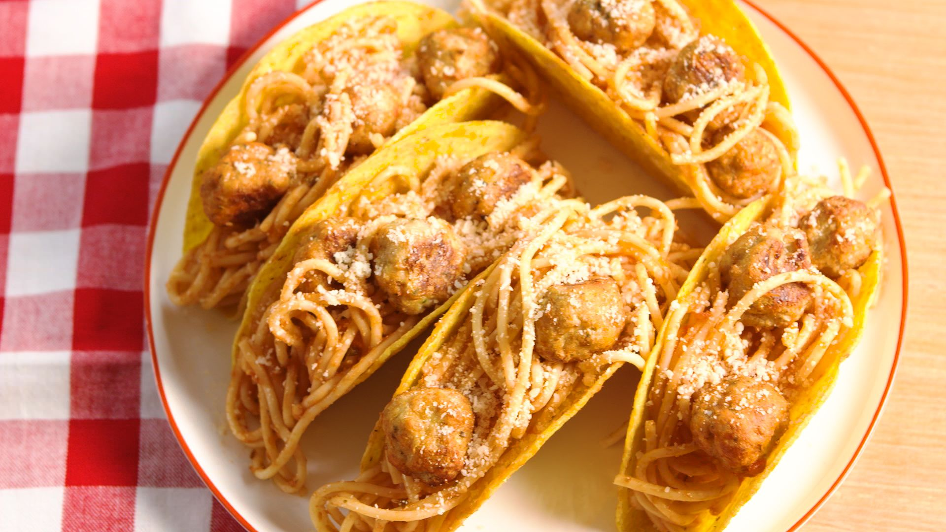 Best Spaghetti Meatball Tacos Recipe How To Make Spaghetti Meatball Tacos