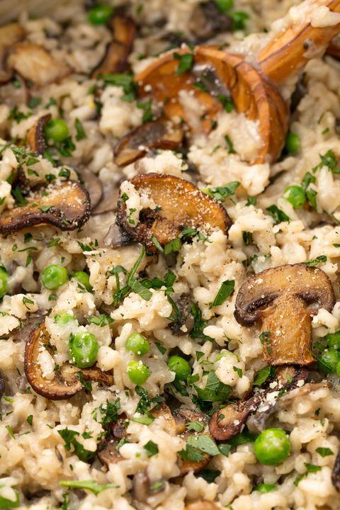 mushroom risotto vertical - Vegetarian Christmas Entree