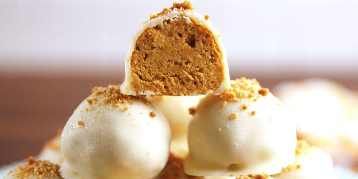 Mini Pumpkin Cheesecake Bites No Bake Recipe | The WHOot  |Mini Pumpkin Cheesecake Bites
