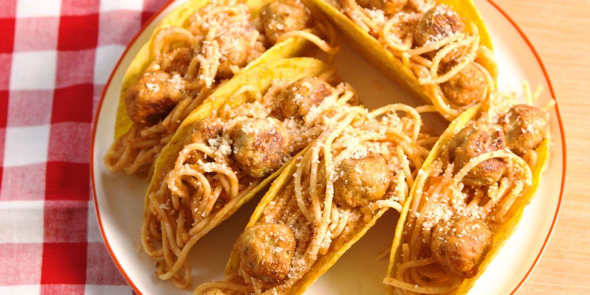 Best Spaghetti Amp Meatball Tacos Recipe How To Make Spaghetti Amp Meatball Tacos