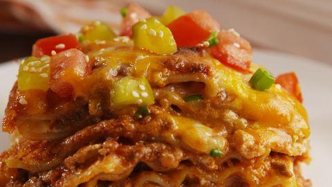 Cheeseburger Lasagna Horizontal