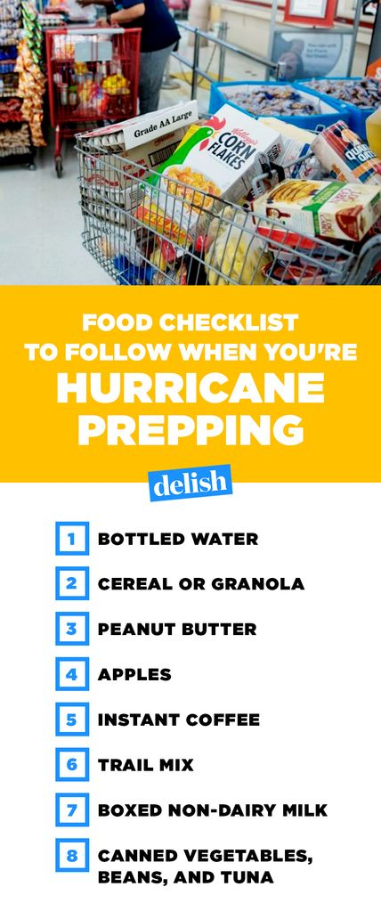 Hurricane Preparedness Food List Ideas What Food To Buy