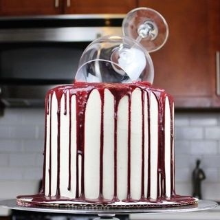 You Have To See How This Wine Glass Cake Is Made Delish