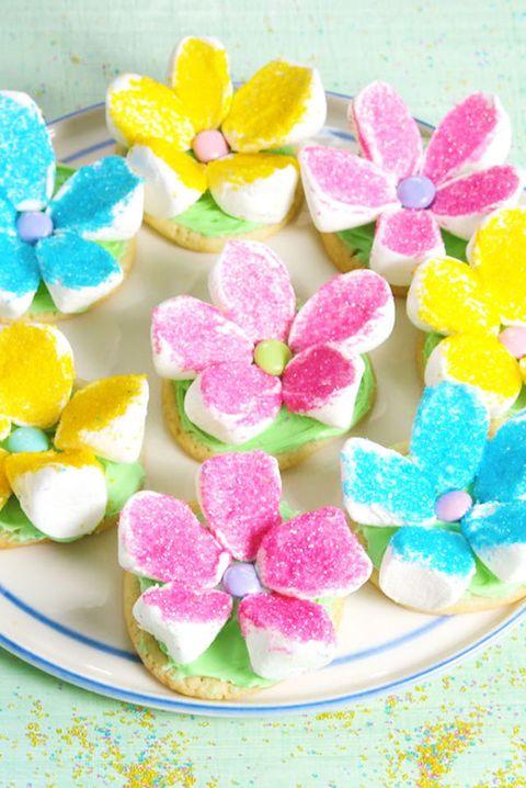 marshmallow flower cookies