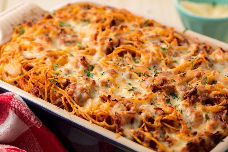 Baked Spaghetti Horizontal