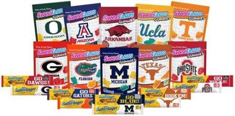 sweetarts and butterfinger made college themed wrappers and they re