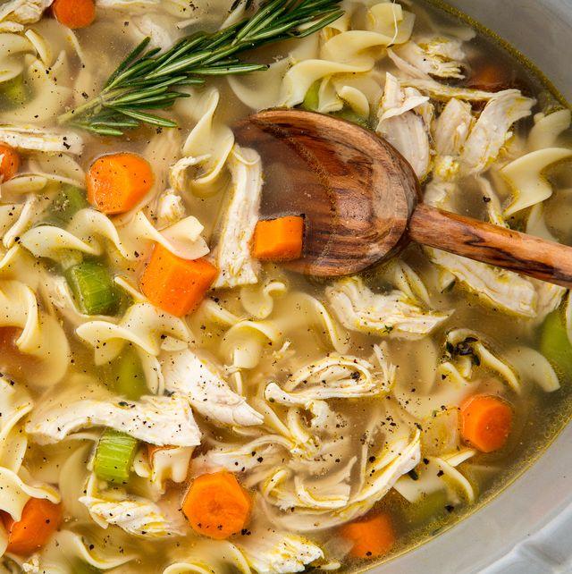 crockpot chicken noodle soup horizontal