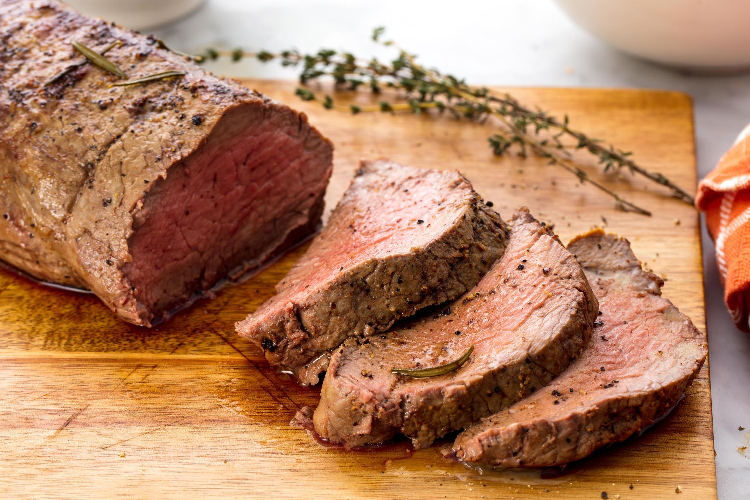 Coffee Rub Beef Tenderloin - crusted