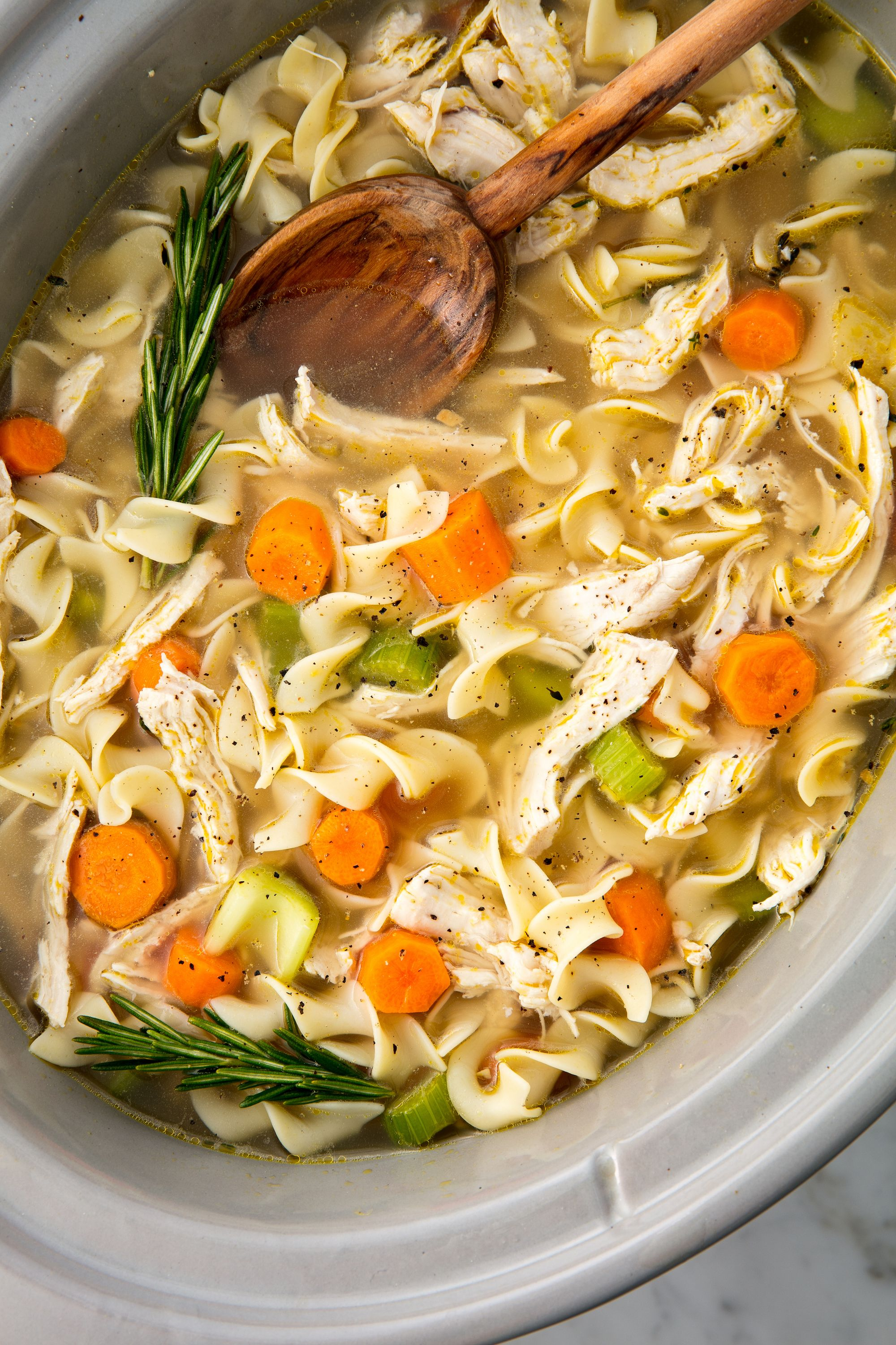 Easy Crockpot Chicken Noodle Soup Recipe How To Make Slow Cooker