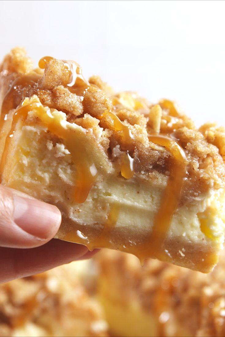 Best Caramel Apple Cheesecake Bar Recipe How To Make Caramel Apple