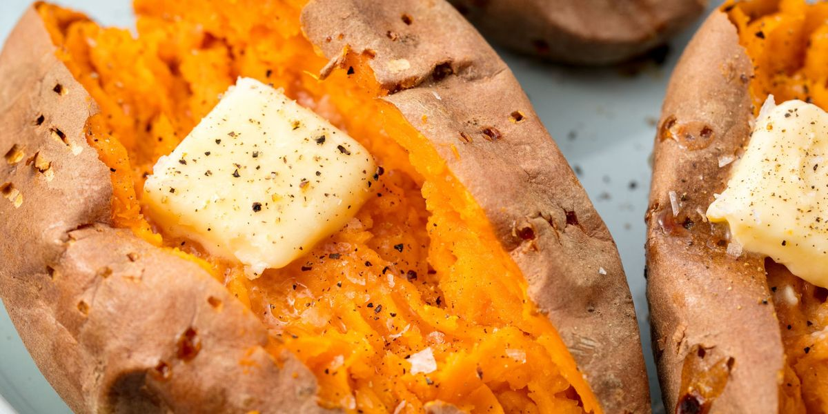Best Baked Sweet Potato Recipe How To Bake Whole Sweet Potatoes In