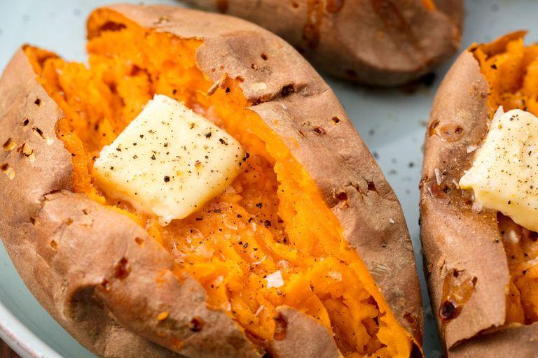 Best Baked Sweet Potato Recipe - How to Bake Whole Sweet ...