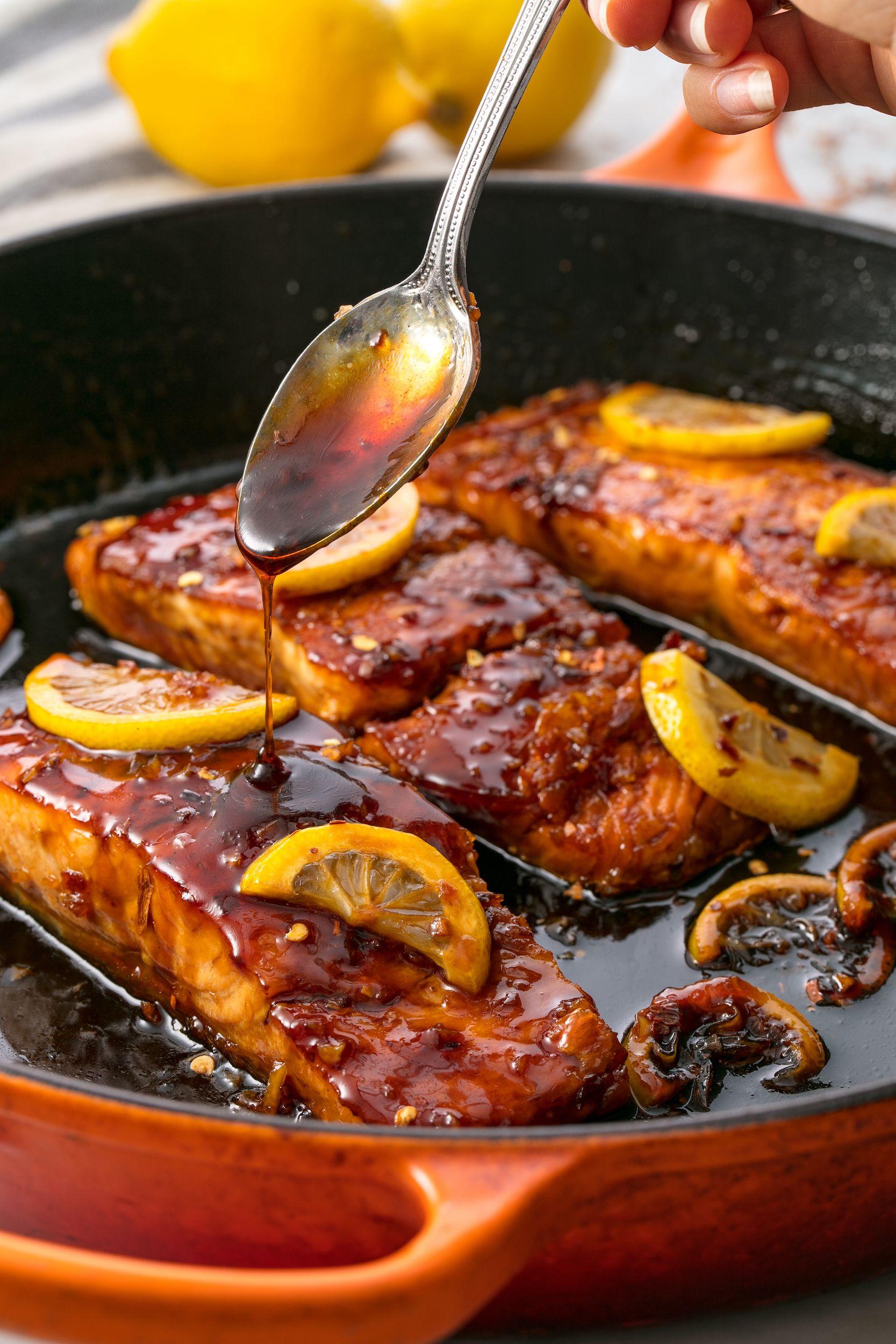 Honey Garlic Glazed Salmon Vertical