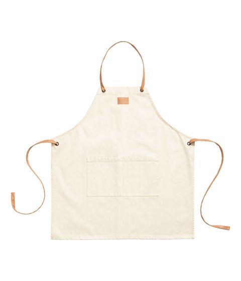 White, Beige, Bag, Apron, Handbag, Leather, Fashion accessory,