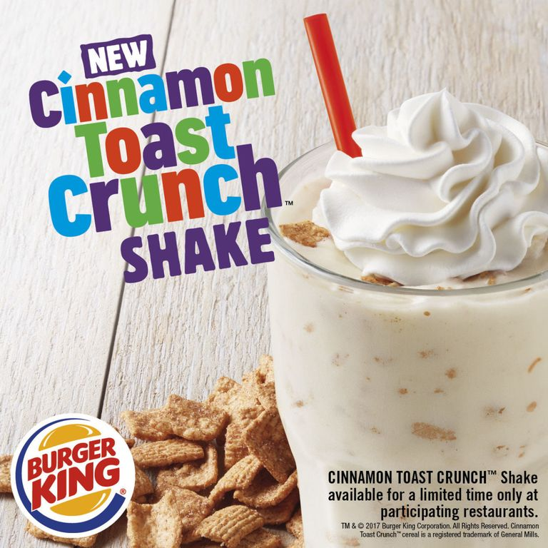 You can now get cinnamon toast crunch milkshakes at burger king ccuart Image collections