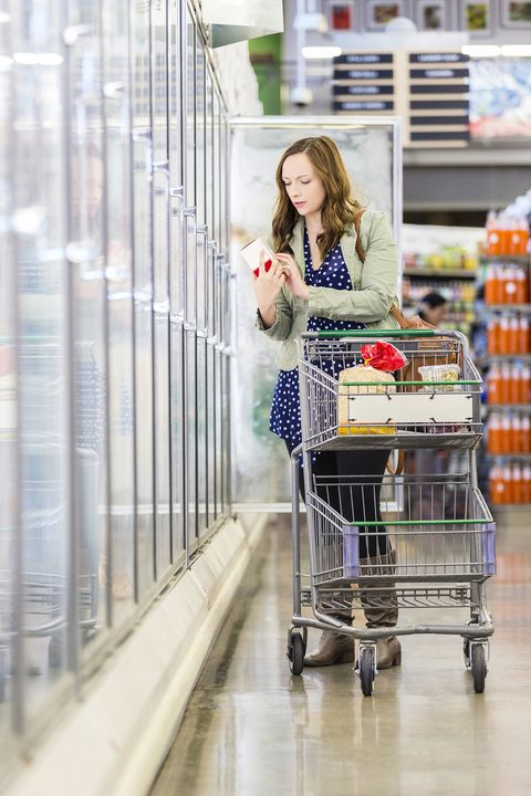 Supermarket, Shopping cart, Product, Grocery store, Cart, Aisle, Retail, Vehicle, Shopping, Service,