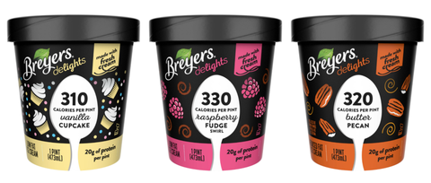 Breyers Is Adding Three New Flavors To Its Low Calorie Ice Cream Line