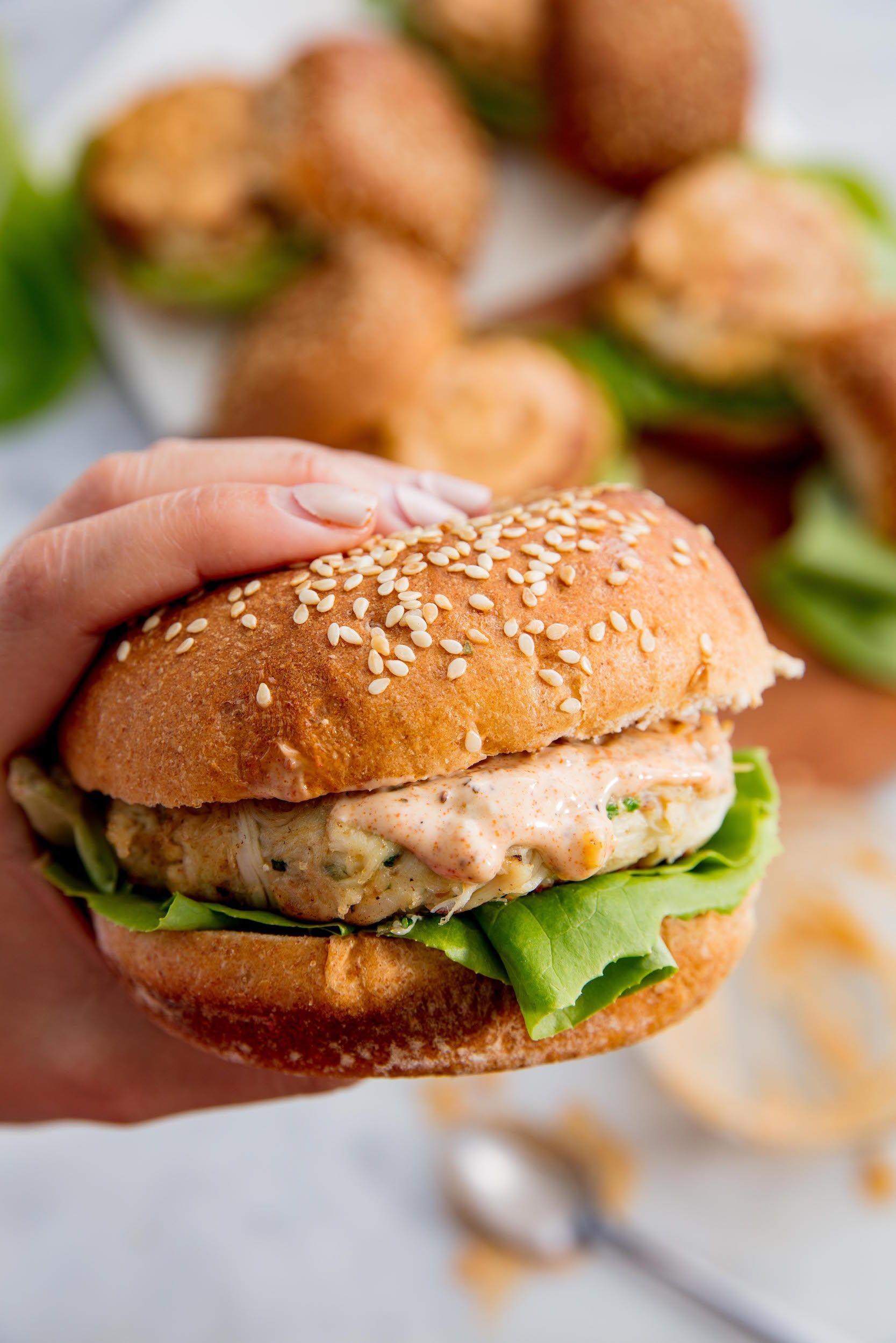 Crab Cake Burgers Vertical