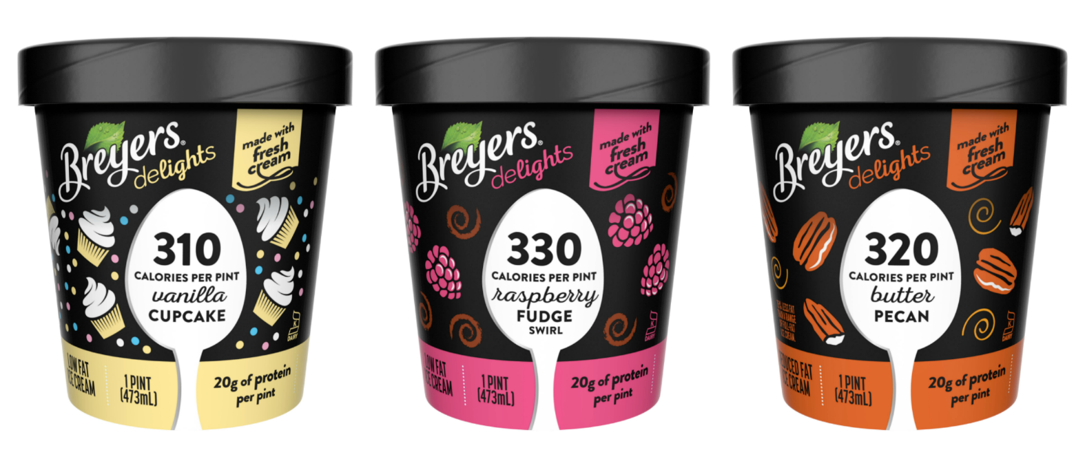 Astounding Breyers Is Adding Three New Flavors To Its Low Calorie Ice Cream Line Funny Birthday Cards Online Alyptdamsfinfo