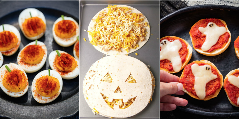 30 easy halloween appetizers best recipes for halloween appetizer if youre throwing a halloween party you have to serve more than candy and alcohol luckily weve got equally festive bagels dips desserts and more forumfinder Images