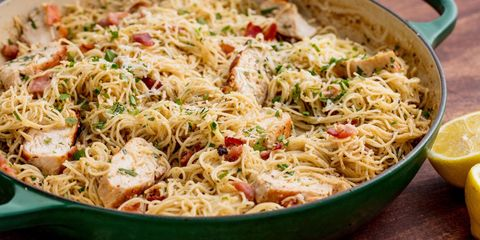 40 easy chicken pasta recipes light pasta dishes with chicken and