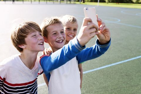 Selfie, Youth, Fun, Child, Photography, Leisure, Cheering, Gesture, Vacation, Happy,