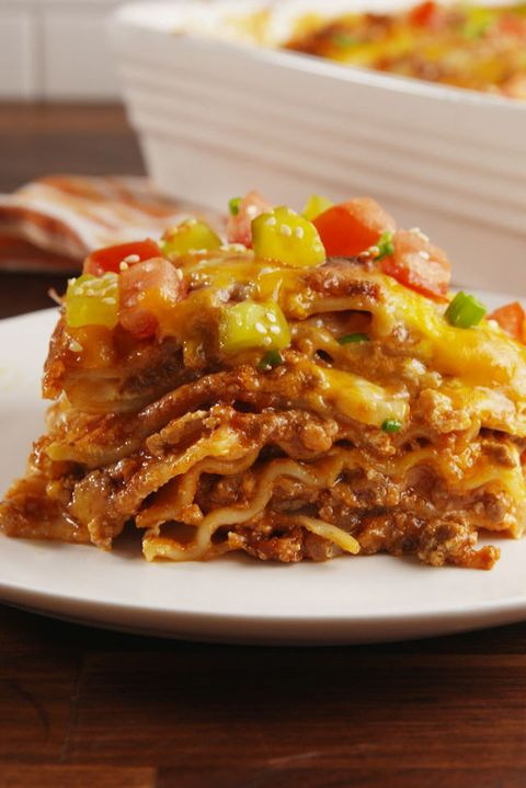 Cheeseburger Lasagna Vertical