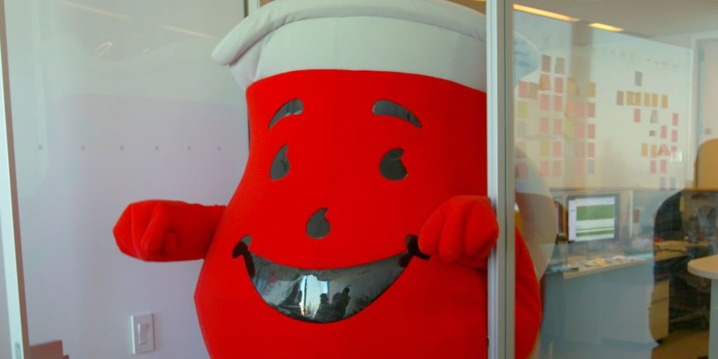 Chaos Ensues When You Let Kool Aid Man Crash Your Office