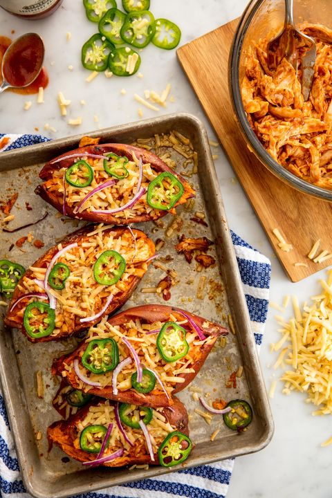 Barbecue Chicken Sweet Potatoes Vertical