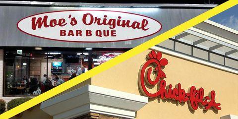 Font, Signage, Fast food restaurant, Building, Outlet store, Sign, Fast food, Facade, Restaurant, Logo,