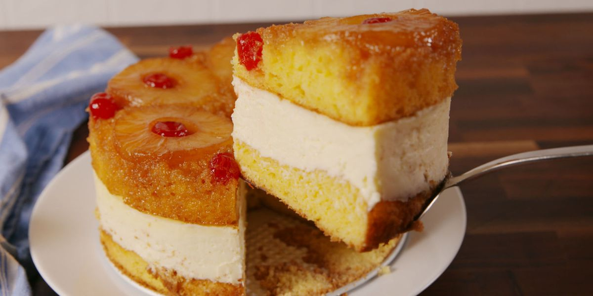 Baking Pineapple Upside Down Cheesecake Video Pineapple Upside Down Cheesecake Recipe How To Video
