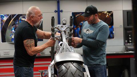 Paul Teutul Sr. and Paul Teutul Jr. on 'American Chopper'