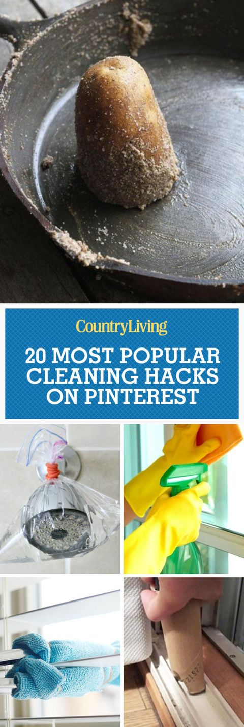 20 Most Popular Cleaning Hacks On Pinterest