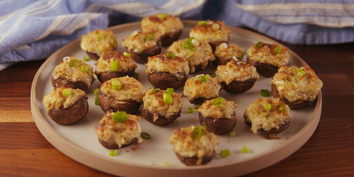 Best Crab Artichoke Stuffed Mushroom Recipe - How to Make ...