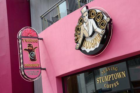 Pink, Red, Magenta, Facade, Restaurant,