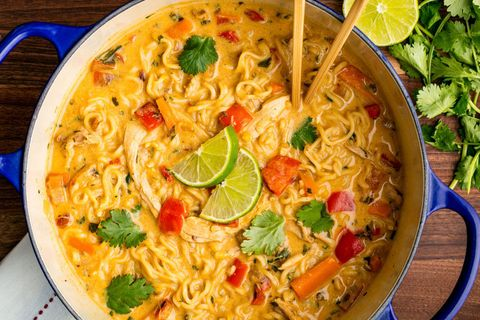 asian chicken noodle soup horizontal