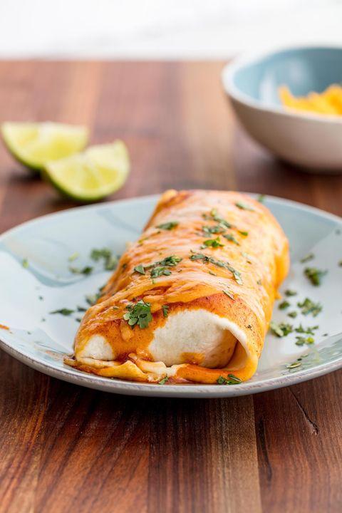 Cheesy Baked Burritos Vertical