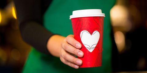 Cup, Cup, Red, Coffee cup, Drinkware, Mug, Hand, Drink, Tableware,