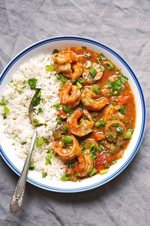 Dish, Food, Cuisine, Ingredient, Shrimp, Étouffée, Meat, Curry, Gumbo, Produce,