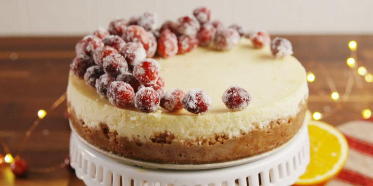 100 best christmas desserts recipes for festive holiday desserts sparkling cranberry cheesecake horizontal forumfinder Choice Image